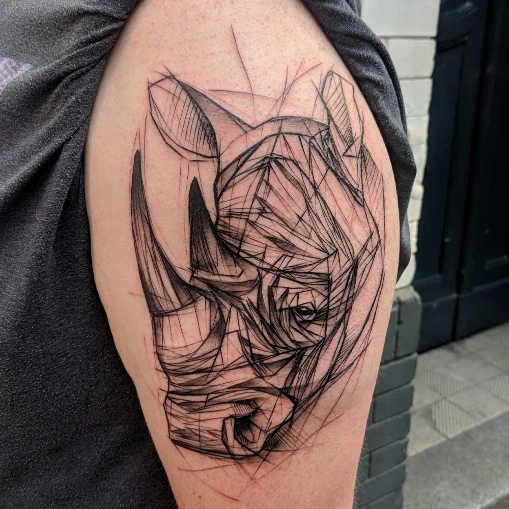 【Tatuajes de rinocerontes】 🦏 Significado y mejores diseños  ✅