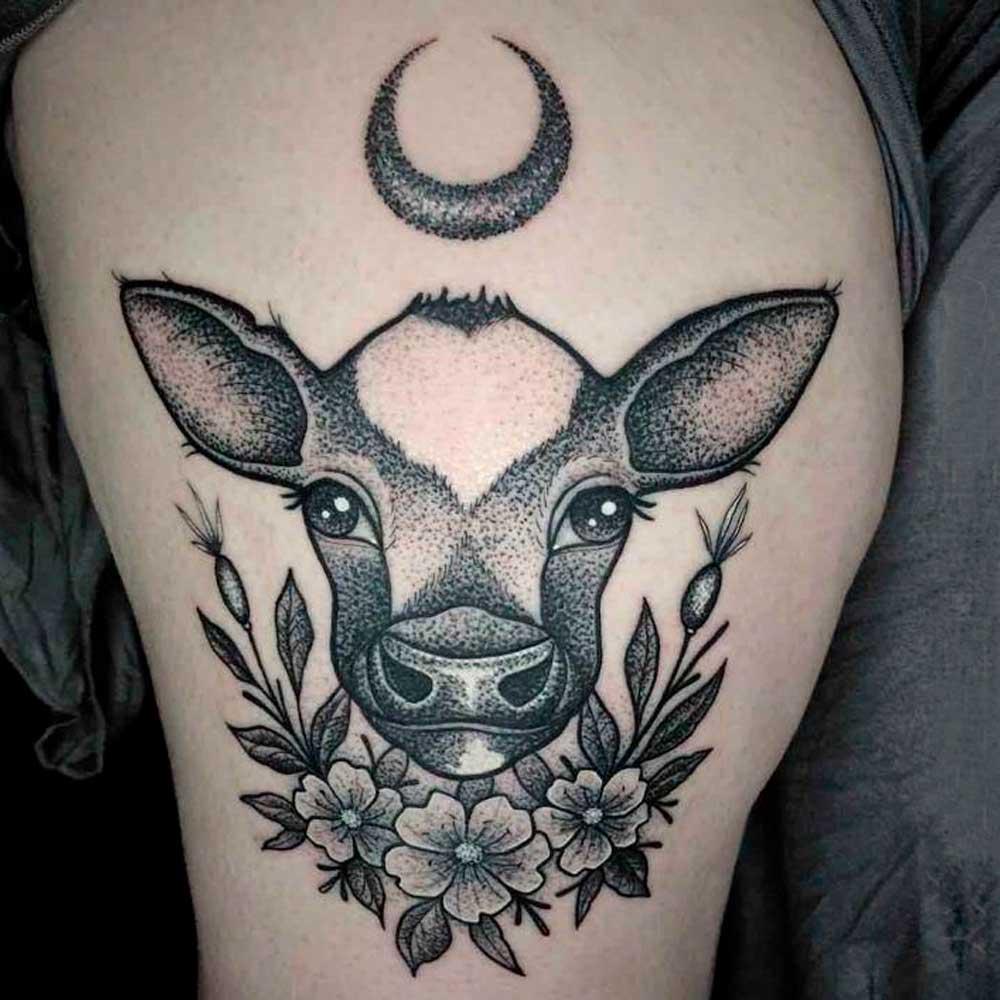 【Tatuajes de vacas】 🐄 Significado y mejores diseños  ✅