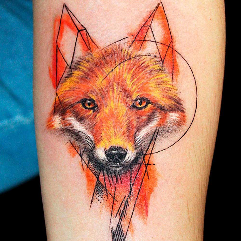 【Tatuajes de zorros】 🦊 Significado y mejores diseños  ✅